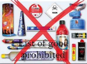 List of goods prohibited